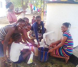 AquAid funded pump installed in Monrovia, Liberia